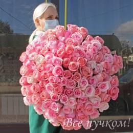 """101 розовая роза """"Премиум"""""""