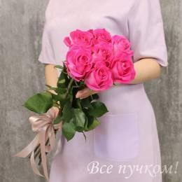 """Букет из 7 розовых роз """"Премиум"""""""