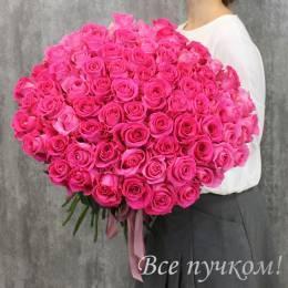 """Букет из 75 розовых роз """"Премиум"""""""