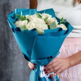 """Букет """"Небесный"""" из 15 роз"""