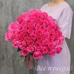 """Букет из 51 розовой розы """"Премиум"""""""