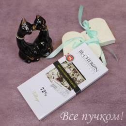 """Горький шоколад """"Бушерон"""" с миндалем, клюквой и фисташками"""