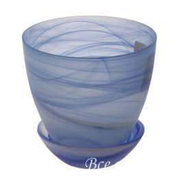 Горшок из стекла №4, цвет в ассортименте, D15,5 см
