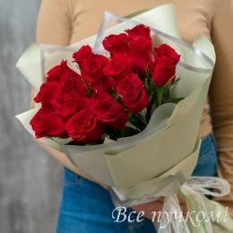 """Букет """"Сила чувств"""" из 15 роз"""