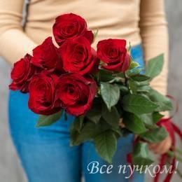 """Букет из 7 красных роз """"Премиум"""""""