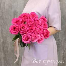 """Букет из 15 розовых роз """"Премиум"""""""