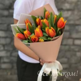 """Букет """"Для твоей улыбки"""" из 15 тюльпанов"""