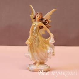 """Фигурка """"Ангел в золотом платье"""" маленькая"""