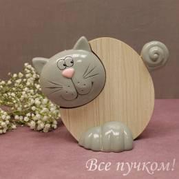 """Фигурка """"Кот деревянный"""""""