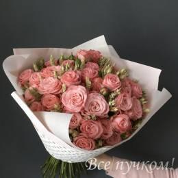 Букет ПОД ЗАКАЗ #531 - Кустовая пионовидная роза