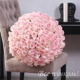 Букет#508 - 101 высокая розовая роза