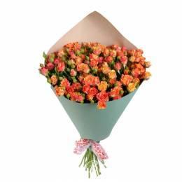 Букет#823 - 15 кустовых роз яркого цвета в ассортименте