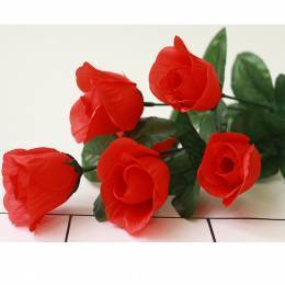Роза кустовая, 6 бутонов (bg1442)