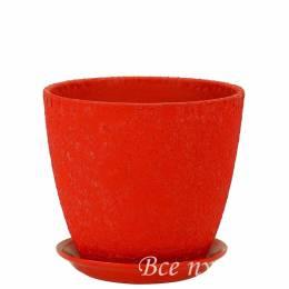 Горшок бутон Винил красный D 15 см
