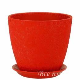 Горшок бутон Винил красный D 18 см