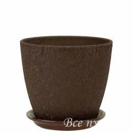 Горшок бутон Винил шоколад D15 см
