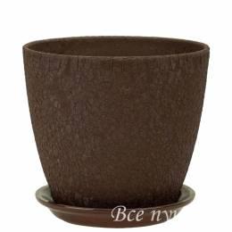 Горшок бутон Винил шоколад D18 см