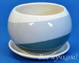 Горшок цикламен-5 бел/хром(0,5 л)