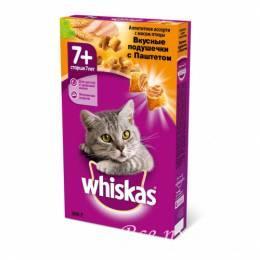 Корм для пожилых кошек Whiskas 350 г паштет птица сухой