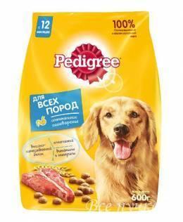 Педигри корм для взрослых собак всех пород 600 г