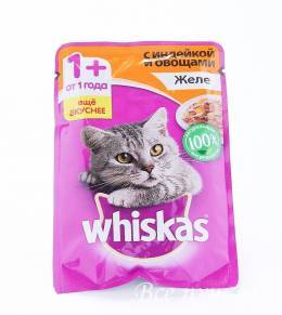 Корм для кошек Вискас  желе индейка 85г