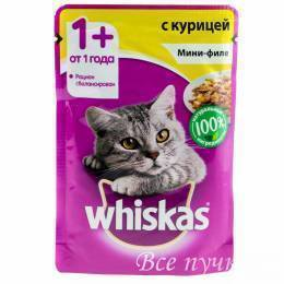 Корм для кошек Вискас желе мини филе курицы  85г