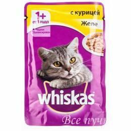 Корм для кошек Вискас желе с курицей  85г