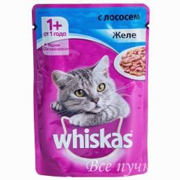 Корм для кошек Вискас желе с лососем   85г