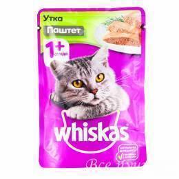Корм для кошек Вискас паштет с уткой    85г