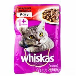 Корм для кошек Вискас рагу говядина/ягненок  85г