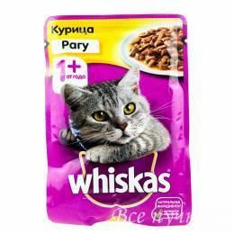 Корм для кошек Вискас рагу курица   85г