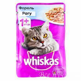 Корм для кошек Вискас рагу с форелью  85г