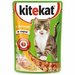 Корм для кошек Китикет  курица в соусе  85г