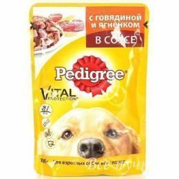 Корм Педигри 100 гр говядина /ягненок для взрослых собак