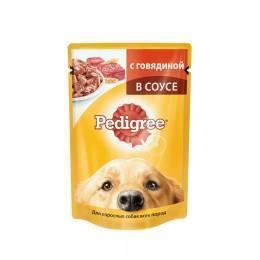 Корм Педигри 100 гр говядина для взрослых собак
