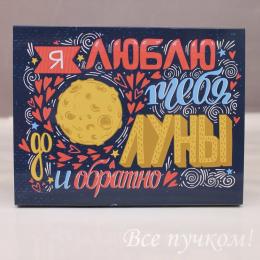 Набор шоколадок «Я люблю тебя до Луны и обратно»