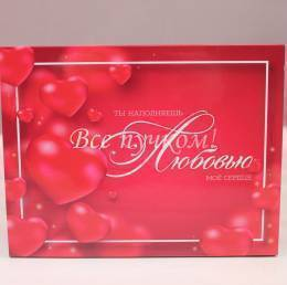 Набор шоколадок «Ты наполняешь любовью мое сердце»