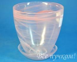 Горшок алеб 2   розовый . Диаметр 13 см. Объём 0.85 л.
