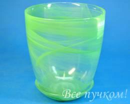 Горшок 3 .алеб  зеленый.  Диаметр 14.5 см. Объём 1 л. Высота 15.5 см.