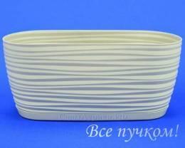 кашпо Sahara petit овал 2,65л(св.серый)