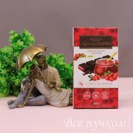 Шоколад горький с пюре из клюквы