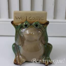 """Фигурка лягушка """"Welcome"""""""