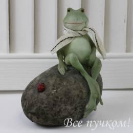 "Фигурка ""Лягушка на камне"""