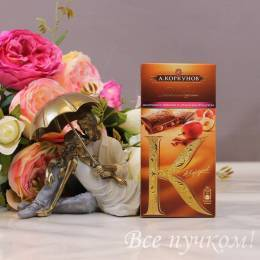 """Шоколад молочный """"Коркунов"""" с изюмом и дробленным фундуком"""